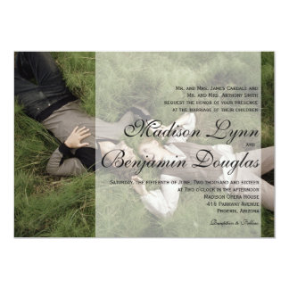 Sweet Couple Laying Grass /Wedding Invitation