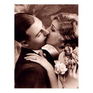 Sweet Couple Vintage Postcard
