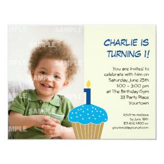Sweet Cupcake 1st Birthday Party Invitation