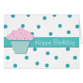 Sweet Cupcake Birthday Greeting Card