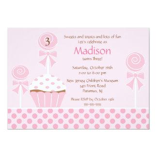 Sweet Cupcake Birthday Invitation
