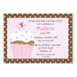 Sweet Cupcake Birthday Invitation 13 Cm X 18 Cm Invitation Card