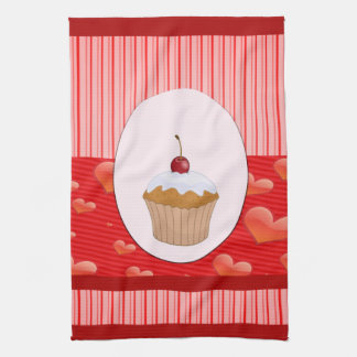 Sweet Cupcake, Hearts and Stripes Towels