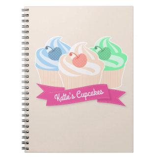 Sweet Cupcake Trio Note Books