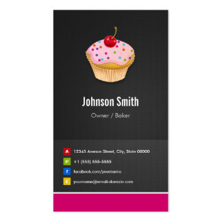Sweet Cupcakes Bakery - Creative Innovative Pack Of Standard Business Cards