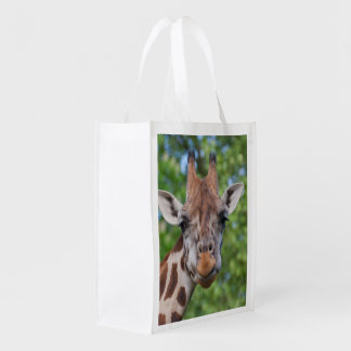 Sweet Curios Giraffe Reusable Grocery Bag
