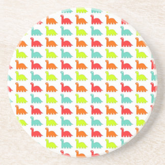 Sweet Cute color Dinosaur Beverage Coasters