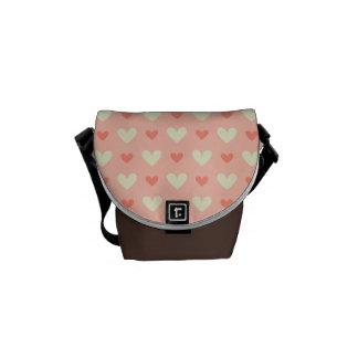 Sweet Cute Love Hearts Seamless Pattern Commuter Bags