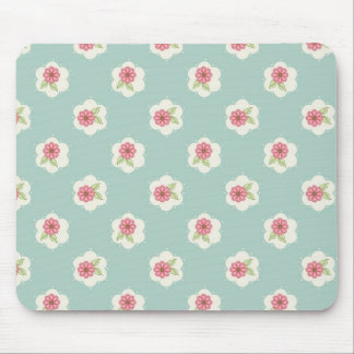 Sweet Daisy Mouse Pad in Vintage Aqua