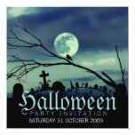 Sweet Darkness Halloween Party Invitations