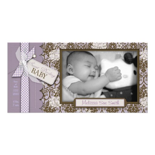 Sweet Darling Baby Photo Card