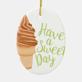 Sweet Day Ceramic Oval Decoration