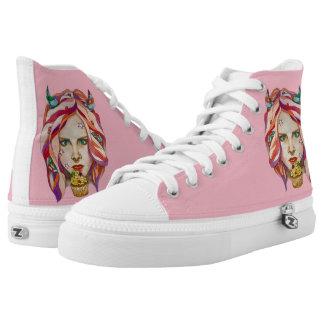 sweet demon printed shoes