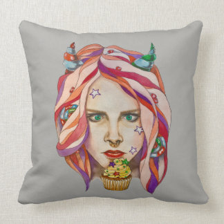 sweet demon throw pillow