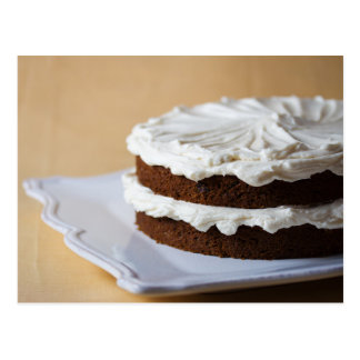 Sweet Dessert layered with Cream Cheese Frosting Postcard