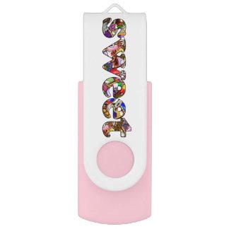 """""""Sweet"""" Dessert Text Swivel USB 2.0 Flash Drive"""