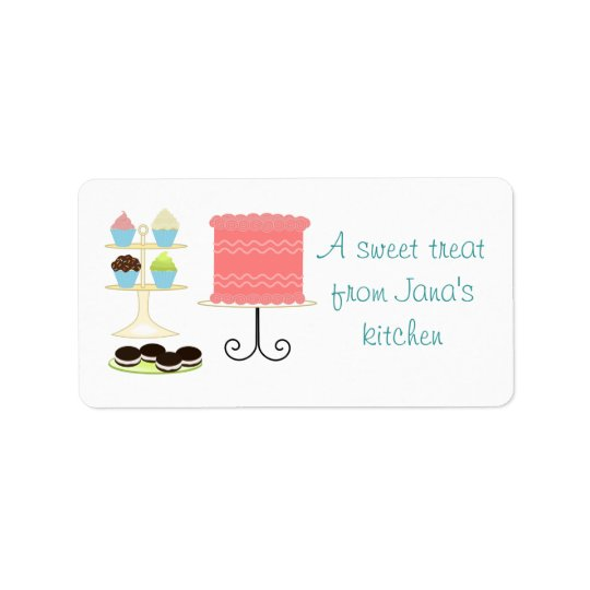 Sweet Desserts Avery Label Address Label