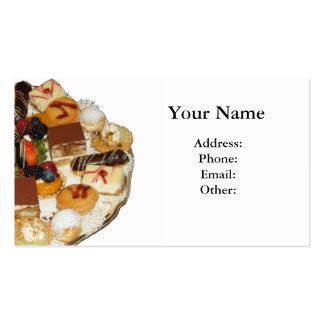 Sweet Desserts Pack Of Standard Business Cards