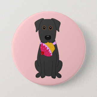 Sweet Dog Pink 7.5 Cm Round Badge
