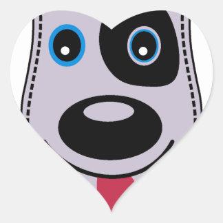 sweet dog vintage design heart sticker