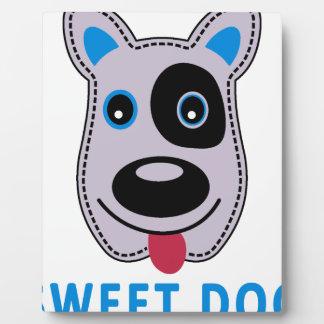 sweet dog vintage design plaque