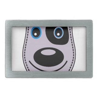 sweet dog vintage design rectangular belt buckle