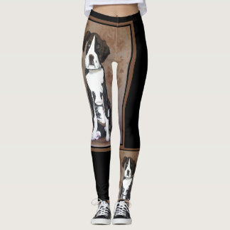 SWEET DOGGY Fashion Leggings--Black/Brown/Tan Leggings