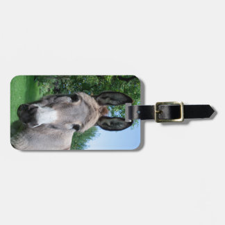 Sweet Donkey Portrait Luggage Tag