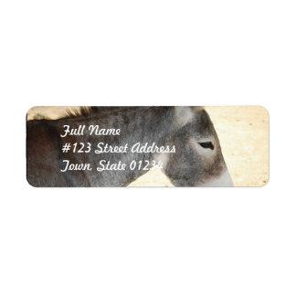 Sweet Donkey Return Address Label