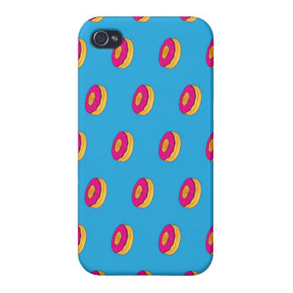 Sweet Donuts Cartoon Pattern iPhone 4 Cover