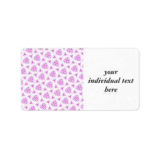 sweet doodle pattern pink (I) Address Label