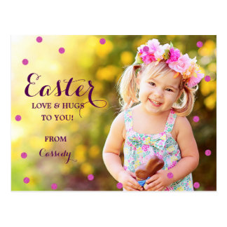 Sweet Dots Photo Easter Postcard