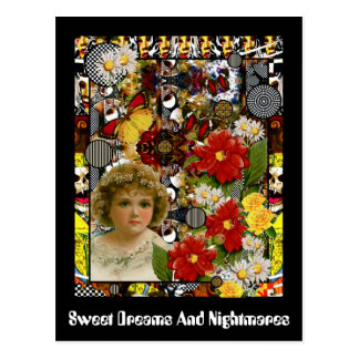 Sweet Dreams And Nightmares Postcard