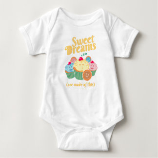 Sweet dreams are made of... cupcakes and cookies baby bodysuit