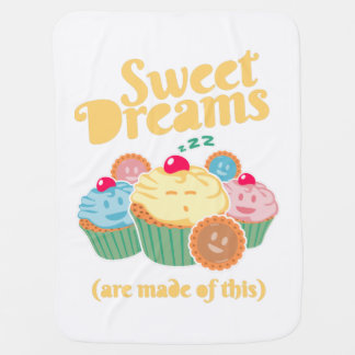 Sweet dreams are made of... cupcakes and cookies buggy blanket