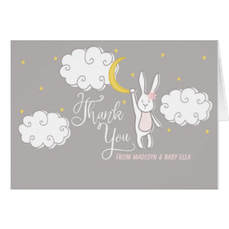 """Sweet Dreams"" Bunny Folded Thank You Card"