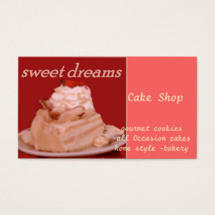 White cake business cards business card printing zazzle sweet dreams business card reheart Images