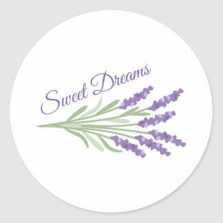 Sweet Dreams Classic Round Sticker