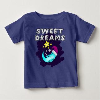 Sweet Dreams - Cute Moon Taking a Nap Baby T-Shirt