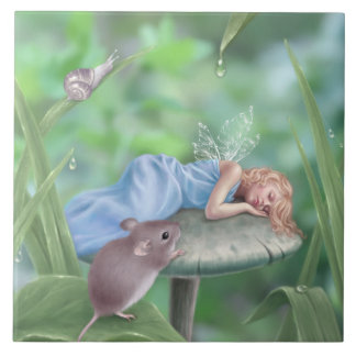 Sweet Dreams Fairy Art Tile