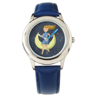 Sweet Dreams Girl on the Moon Fashion Watch