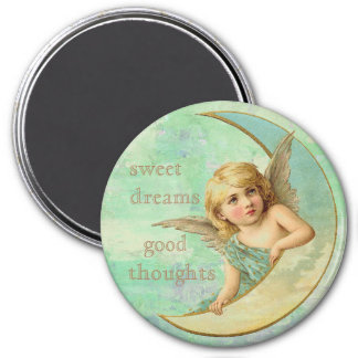 Sweet dreams, Good Thoughts Angel 7.5 Cm Round Magnet