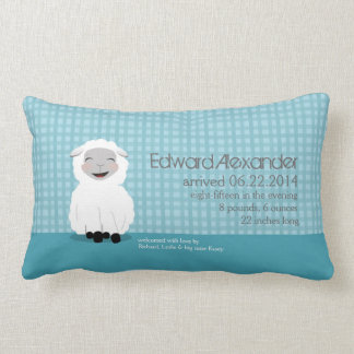 Sweet Dreams Lamb Blue Personalized Baby Pillow
