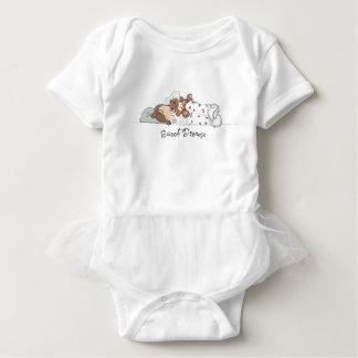 Sweet Dreams; Little Girl Sleeping with her Bear Baby Bodysuit