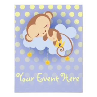 Sweet Dreams Monkey Customizable Invitation