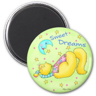 Sweet Dreams Round Magnet