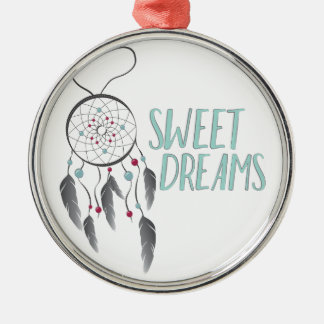 Sweet Dreams Silver-Colored Round Decoration