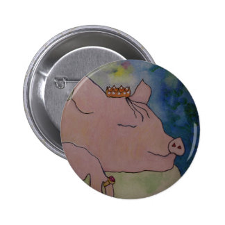 Sweet Dreams - Sleeping Pig - BUTTON