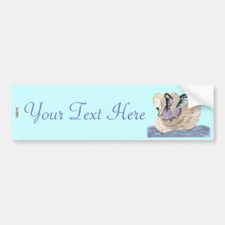 Sweet Dreams (The Angel & The Swan) (Full Colour) Car Bumper Sticker