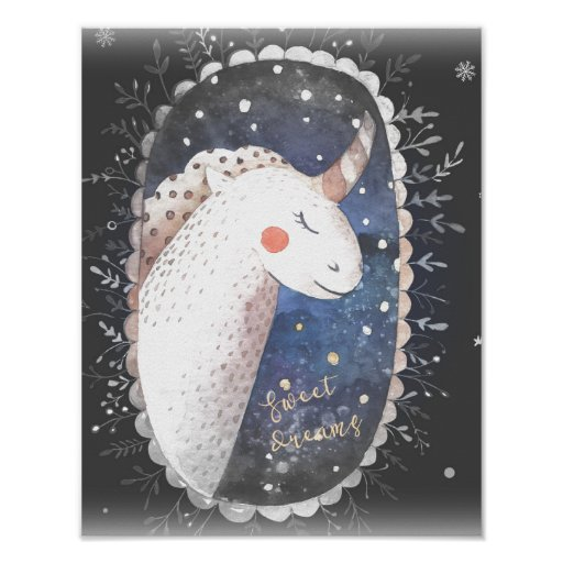 Sweet Dreams Unicorn Poster